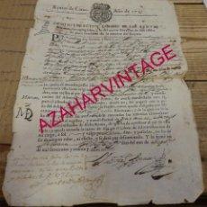 Manuscritos antiguos: PEDRAZA, SEGOVIA, 1735, GUIA PARA TRANSPORTAR LANAS DESDE SEPULVEDA A BILBAO, RARISIMO DOCUMENTO. Lote 169629676