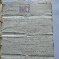 Manuscritos antiguos: MANUSCRITO - AÑO 1872 - DOCUMENTO NOTARIAL ESPLUGA DE FRANCOLI - - CON FIRMA NOTARIAL - . Lote 169765652