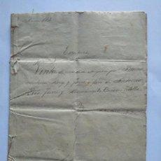 Manuscritos antiguos: MANUSCRITO - AÑO 1872 - DOCUMENTO NOTARIAL ESPLUGA DE FRANCOLI - - CON FIRMA NOTARIAL - . Lote 169765716