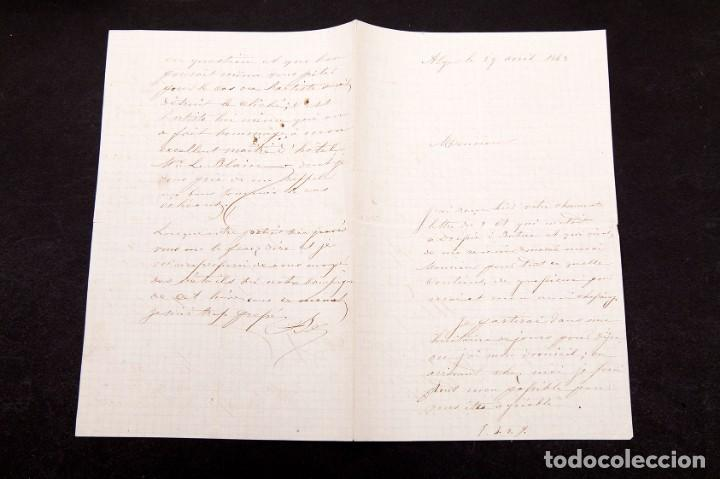Manuscritos antiguos: Charles Bombonnel (1816-1890) - EXPLORADOR - CARTA MANUSCRITA - 1875 - Foto 2 - 169800716