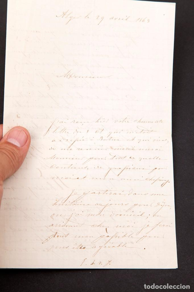 Manuscritos antiguos: Charles Bombonnel (1816-1890) - EXPLORADOR - CARTA MANUSCRITA - 1875 - Foto 5 - 169800716