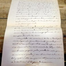 Manuscritos antiguos: 1862, APROBACION DE LAS ORDENANZAS MUNICIPALES DE TUDANCA, CANTABRIA, 8 PAGINAS. Lote 170194988