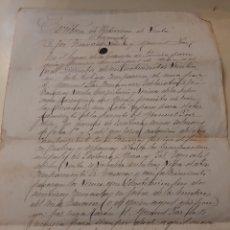 Manuscritos antiguos: 1824 MEIRA LUGO ESCRITURA VENTA. Lote 170284889