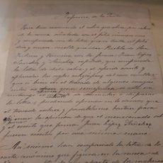 Manuscritos antiguos: INFORME PERITOS SOBRE EL TIPO DE LETRAS EN DIFERENTES PAPELES LUGO. Lote 170285876