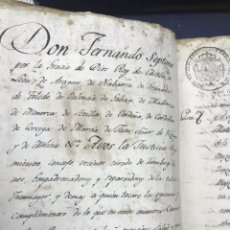Manuscritos antiguos: EJECUTORIA HIDALGUÍA. FUENMAYOR, LA RIOJA, PAIS VASCO. IGNACIO OTEYZA 1817. ENC. PERGAMINO.. Lote 170298804