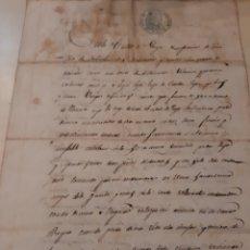 Manuscritos antiguos: 1854 LUGO ESCRITURA. Lote 170308157