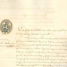 Manuscritos antiguos: FERROCARRIL - SANTANDER - 1845 - CARTA SOBRE LOS INGENIEROS INGLESES. Lote 170573924