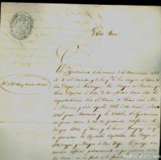 Manuscritos antiguos: FERROCARRIL - 1845 - SANTANDER - AYUNTAMIENTO Y DIPUTACIÓN. Lote 170594780