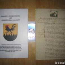 Manuscritos antiguos: MANUSCRITO CERTIFICADO MATRIMONIAL D.ª MARGARITA SOUVIRÓN AZOFRA 1883 MÁLAGA . Lote 170693405
