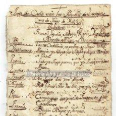 Manuscritos antiguos: [MANUSCRITO. PRIMERA MITAD DEL S.XVIII] JUEGO DE CACHO ENTRE LAS POTENCIAS DE EUROPA.. Lote 171020072
