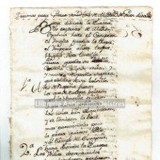 Manuscritos antiguos: [MANUSCRITO. S. XVIII] DECIMAS PARA GLOSAR VENIDAS DE MADRID DE GRAN DISCURSO.. Lote 171020330