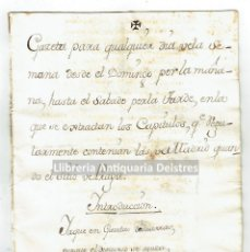 Manuscritos antiguos: [MANUSCRITO. S.XVIII. NOTICIAS DE EUROPA]. GAZETA PARA QUALQUIER DIA DE LA SEMANA DESDE EL DOMINGO . Lote 171020670
