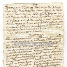 Manuscritos antiguos: [MANUSCRITO. JESUÍTICA. S. XVIII] PREDICANDO EL P. MATUTE, PREDICADOR DEL COLEGIO IMPERIAL. Lote 171021782