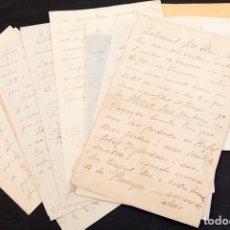 Manuscritos antiguos: JOSEP LLIMONA - 9 CARTAS MANUSCRITAS - 1 DIBUJO DOBLE Y FOLLETOS. Lote 171031330