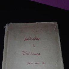 Manuscritos antiguos: ANTIGUA LIBRETA PROBLEMAS DE CALCULO. Lote 171044544