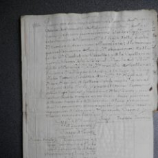 Manuscrits anciens: 23 MANUSCRITOS AÑO 1786 TALAVERA DE LA REINA CAPELLANÍAS MARQUESA VILLARROYA. Lote 171299480