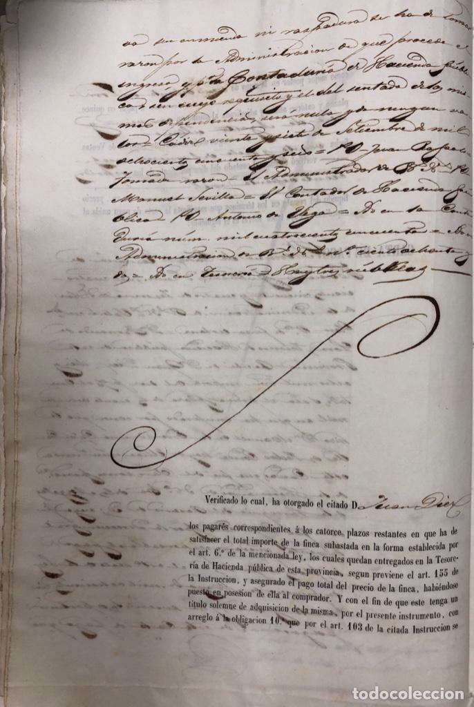 Manuscritos antiguos: CADIZ, 1859. VENTA JUDICIAL. COMPRA DE LA ESCRITURA DE UNA CASA EN LA CALLE PEDRO CONDE Nº32. - Foto 5 - 171397387