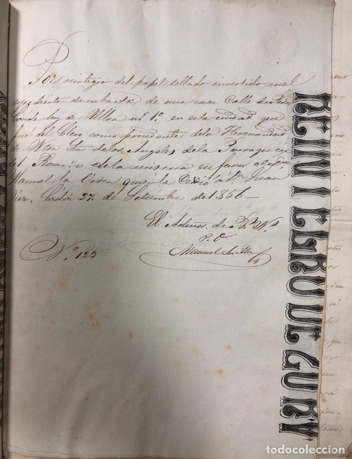 Manuscritos antiguos: CADIZ, 1859. VENTA JUDICIAL. COMPRA DE LA ESCRITURA DE UNA CASA EN LA CALLE PEDRO CONDE Nº32. - Foto 10 - 171397387