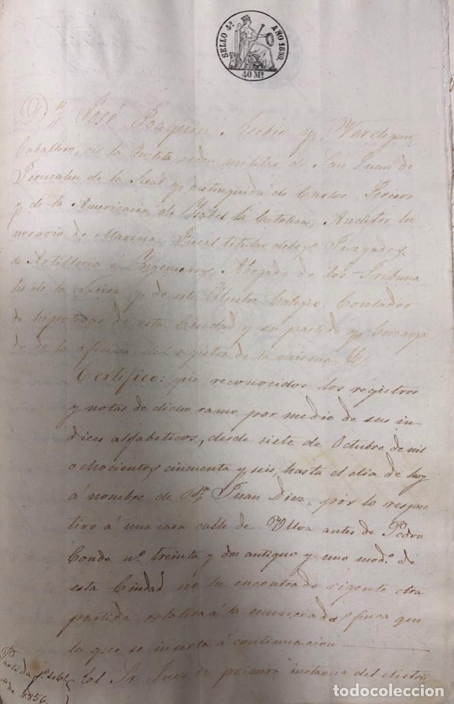 Manuscritos antiguos: CADIZ, 1859. VENTA JUDICIAL. COMPRA DE LA ESCRITURA DE UNA CASA EN LA CALLE PEDRO CONDE Nº32. - Foto 15 - 171397387