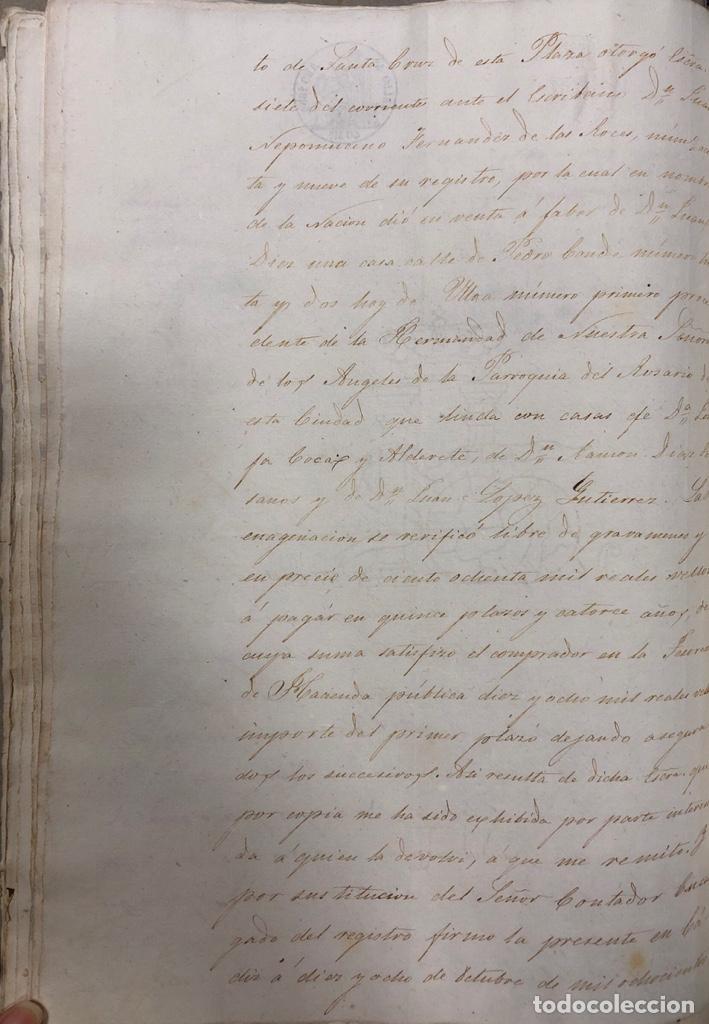 Manuscritos antiguos: CADIZ, 1859. VENTA JUDICIAL. COMPRA DE LA ESCRITURA DE UNA CASA EN LA CALLE PEDRO CONDE Nº32. - Foto 16 - 171397387