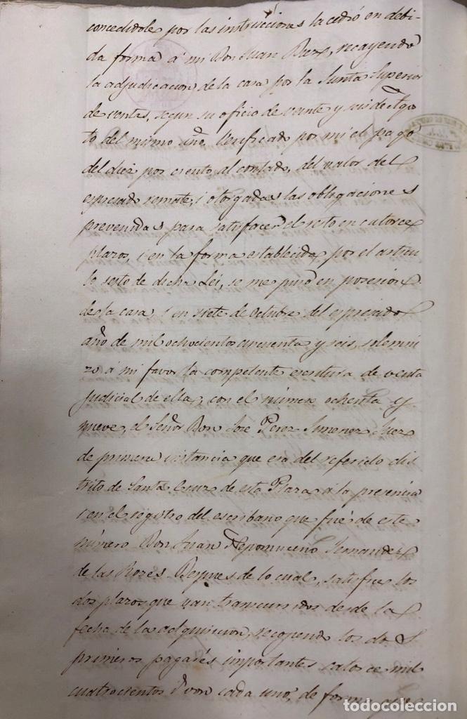 Manuscritos antiguos: CADIZ, 1859. VENTA JUDICIAL. COMPRA DE LA ESCRITURA DE UNA CASA EN LA CALLE PEDRO CONDE Nº32. - Foto 19 - 171397387