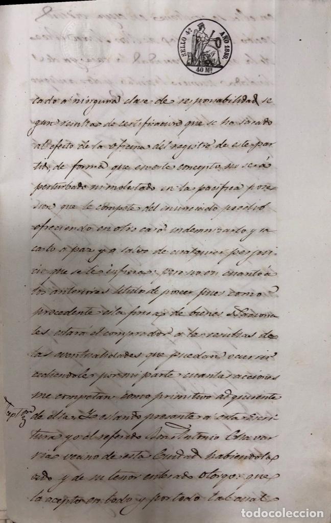 Manuscritos antiguos: CADIZ, 1859. VENTA JUDICIAL. COMPRA DE LA ESCRITURA DE UNA CASA EN LA CALLE PEDRO CONDE Nº32. - Foto 24 - 171397387