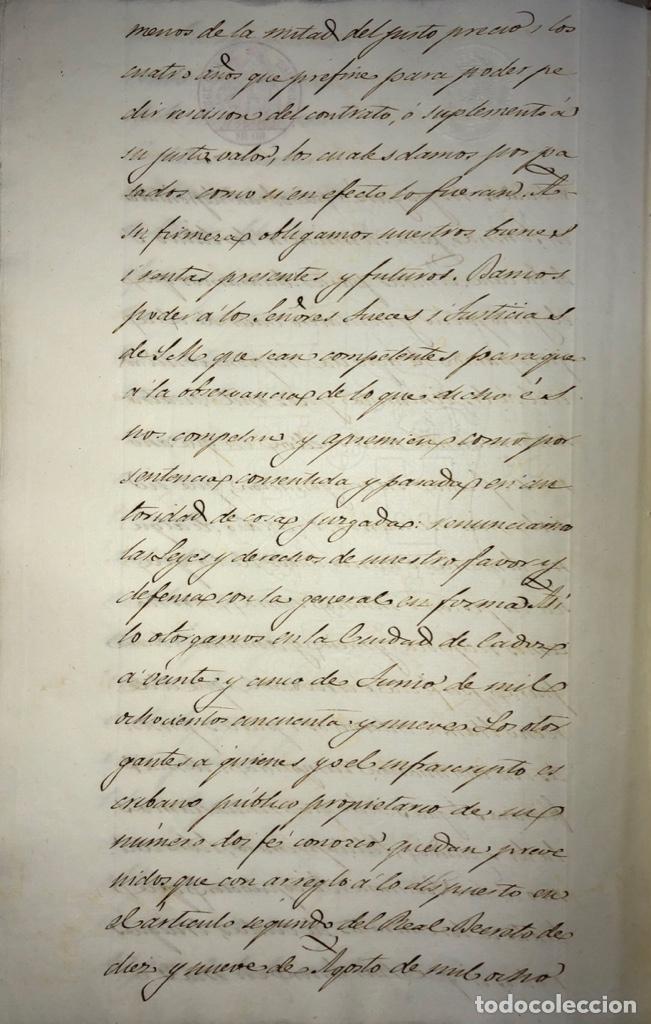 Manuscritos antiguos: CADIZ, 1859. VENTA JUDICIAL. COMPRA DE LA ESCRITURA DE UNA CASA EN LA CALLE PEDRO CONDE Nº32. - Foto 27 - 171397387