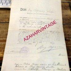 Manuscritos antiguos: SEVILLA, 1908, NOMBRAMIENTO DIRECTOR MEDICO BALNEARIO DE POZO AMARGO, MORON DE LA FRONTERA, MUY RARO. Lote 171399337