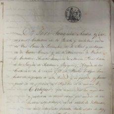 Manuscritos antiguos: CADIZ, 1861. CARTA DE PAGO Y RECIBO A FAVOR DE D. ANTONIO CHAVARRIA POR EL PAGO DE 60.000 REALES.. Lote 171399899
