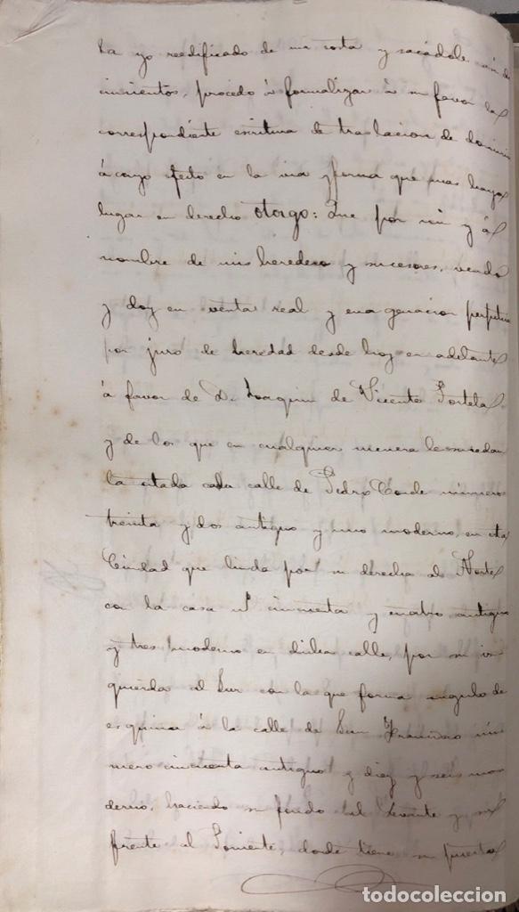 Manuscritos antiguos: CADIZ, 1861. ESCRITURA DE OBLIGACION DE ANTONIO CHAVARRIA ANTE UN ESCRIBANO PUBLICO. - Foto 4 - 171402100