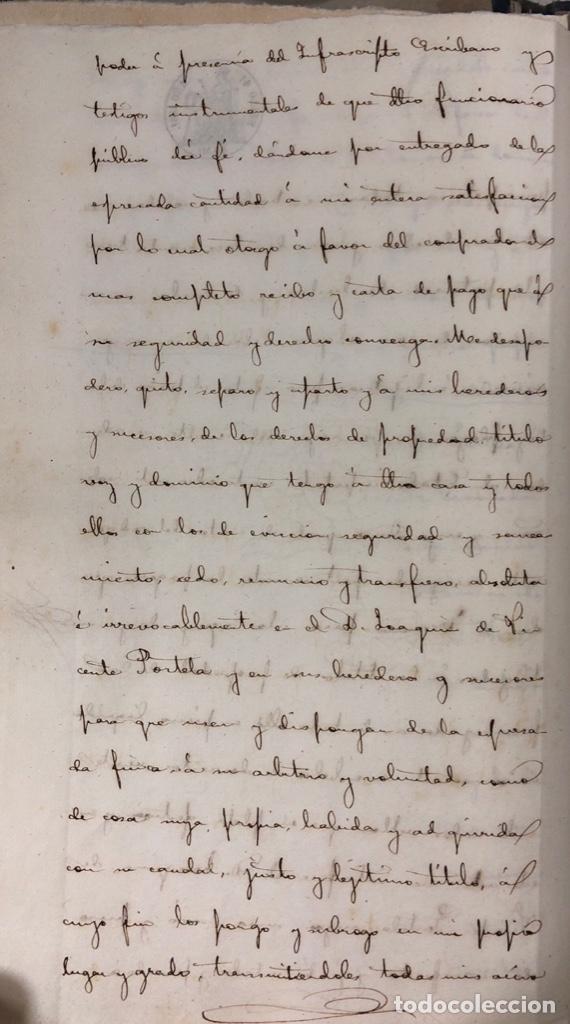 Manuscritos antiguos: CADIZ, 1861. ESCRITURA DE OBLIGACION DE ANTONIO CHAVARRIA ANTE UN ESCRIBANO PUBLICO. - Foto 6 - 171402100
