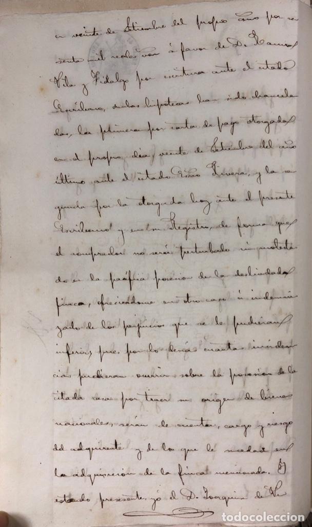 Manuscritos antiguos: CADIZ, 1861. ESCRITURA DE OBLIGACION DE ANTONIO CHAVARRIA ANTE UN ESCRIBANO PUBLICO. - Foto 8 - 171402100