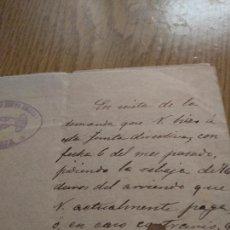 Manuscritos antiguos: TARRAGONA - LA CANONJA - AÑO 1897 - OFICIO AL CONSERJE - SOCIEDAD LA NUEVA AMISTAD - . Lote 171432734