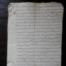 Manuscritos antiguos: 13 MANUSCRITOS AÑO 1628 MILAGRO NAVARRA - VER TODOS- 28 PÁGS DEMANDAS JUDICIALES. Lote 171453194