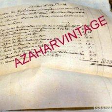 Manuscritos antiguos: BILBAO, 1734, MATERIAL LLEVADO A SEPULVEDA POR UN ARRIERO,RARO DOCUMENTO. Lote 171575969