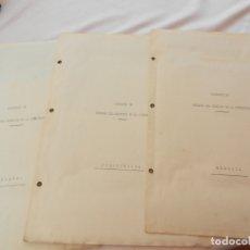Manuscritos antiguos: LA RINCONADA CORTIJO PROYECTO DE DEFENSA - MEMORIA, PRESUPUESTO Y PLANO - VER FOTOS. . Lote 171747560