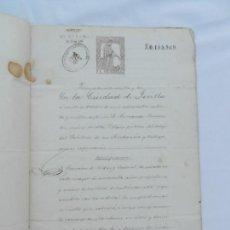 Manuscritos antiguos: ESCRITURA DE MANDATO F. DE RODAS BECERRIL A FAVOR DE SU HIJO F. DE RODAS RODRIGUEZ LA RINCONADA 1874. Lote 171748985