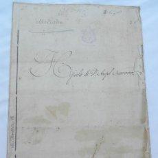 Manuscritos antiguos: ESCRITURA DE HIJUELA DE D. ANGEL NAVARRO DE LA RINCONADA EN ALCALA DEL RIO 1890. . Lote 171751252