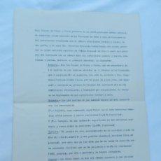 Manuscritos antiguos: ESCRITURA CONTRATO DE ARRENDAMIENTO DE FINCAS EN LA RINCONADA. EL MAJUELO Y EL TARAJAL.... 1929 . Lote 171752018