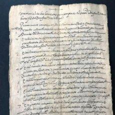 Manuscritos antiguos: MANUSCRITO SIGLO XVIII / NAVARRA / MEMORIAL DE LAS HEREDADES COMPRADAS POR D. FRANCISCO DE BERA. Lote 171764594