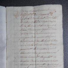 Manuscritos antiguos: MANUSCRITO AÑO 1699 VALENCIA CABALLERO DE MONTESA Y SEÑOR TORMOS ALICANTE. Lote 172090872