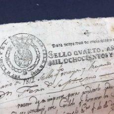 Manuscritos antiguos: FISCAL. DESPACHOS DE OFICIO JOSÉ NAPOLEÓN 1811, HABILITACIÓN MANUSCRITA 1812. GUERRA INDEPENDENCIA. Lote 172162848