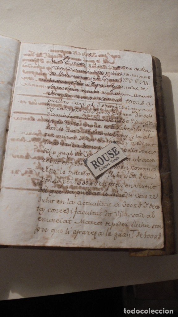 Manuscritos antiguos: ANTIGUO MANUSCRITO LIBRO / LIBRETA BARCELONA / MATARO - VARIOS ESCRITO EN CATALAN - Foto 3 - 172611230