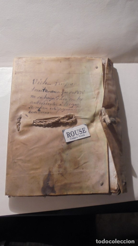 ANTIGUO MANUSCRITO LIBRO / LIBRETA - VICH IMPORTANTE AUN QUE EN 1726 -1776 NO SE HAYAN DADO CON LOS (Coleccionismo - Documentos - Manuscritos)