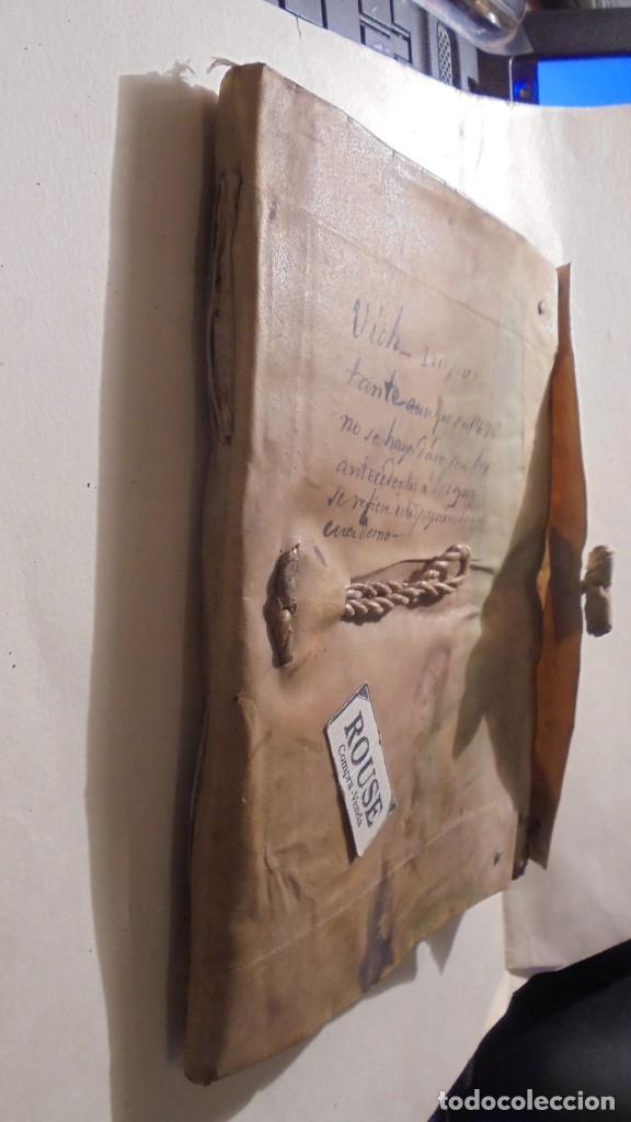 Manuscritos antiguos: ANTIGUO MANUSCRITO LIBRO / LIBRETA - VICH IMPORTANTE AUN QUE EN 1726 -1776 NO SE HAYAN DADO CON LOS - Foto 3 - 172614332