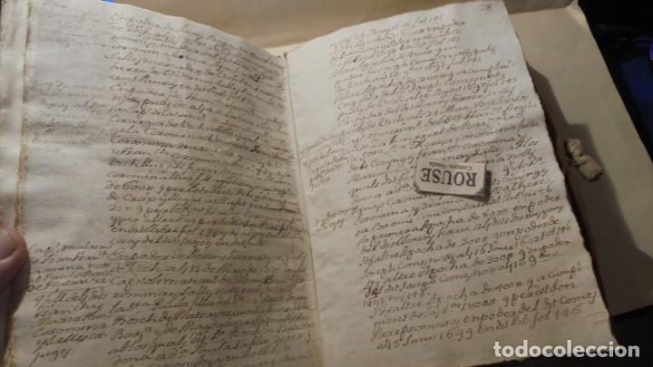 Manuscritos antiguos: ANTIGUO MANUSCRITO LIBRO / LIBRETA - VICH IMPORTANTE AUN QUE EN 1726 -1776 NO SE HAYAN DADO CON LOS - Foto 4 - 172614332