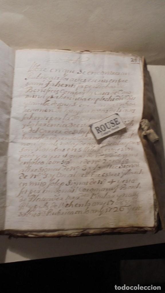 Manuscritos antiguos: ANTIGUO MANUSCRITO LIBRO / LIBRETA - VICH IMPORTANTE AUN QUE EN 1726 -1776 NO SE HAYAN DADO CON LOS - Foto 5 - 172614332