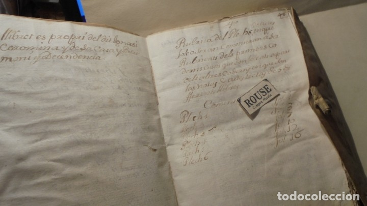 Manuscritos antiguos: ANTIGUO MANUSCRITO LIBRO / LIBRETA - VICH IMPORTANTE AUN QUE EN 1726 -1776 NO SE HAYAN DADO CON LOS - Foto 6 - 172614332