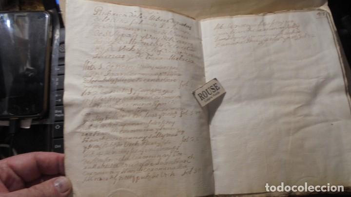 Manuscritos antiguos: ANTIGUO MANUSCRITO LIBRO / LIBRETA - VICH IMPORTANTE AUN QUE EN 1726 -1776 NO SE HAYAN DADO CON LOS - Foto 7 - 172614332