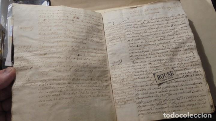 Manuscritos antiguos: ANTIGUO MANUSCRITO LIBRO / LIBRETA - VICH IMPORTANTE AUN QUE EN 1726 -1776 NO SE HAYAN DADO CON LOS - Foto 8 - 172614332